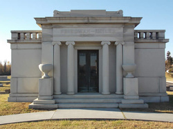 This Friedman-Keiler mausoleum reflects the family's economic prominence.