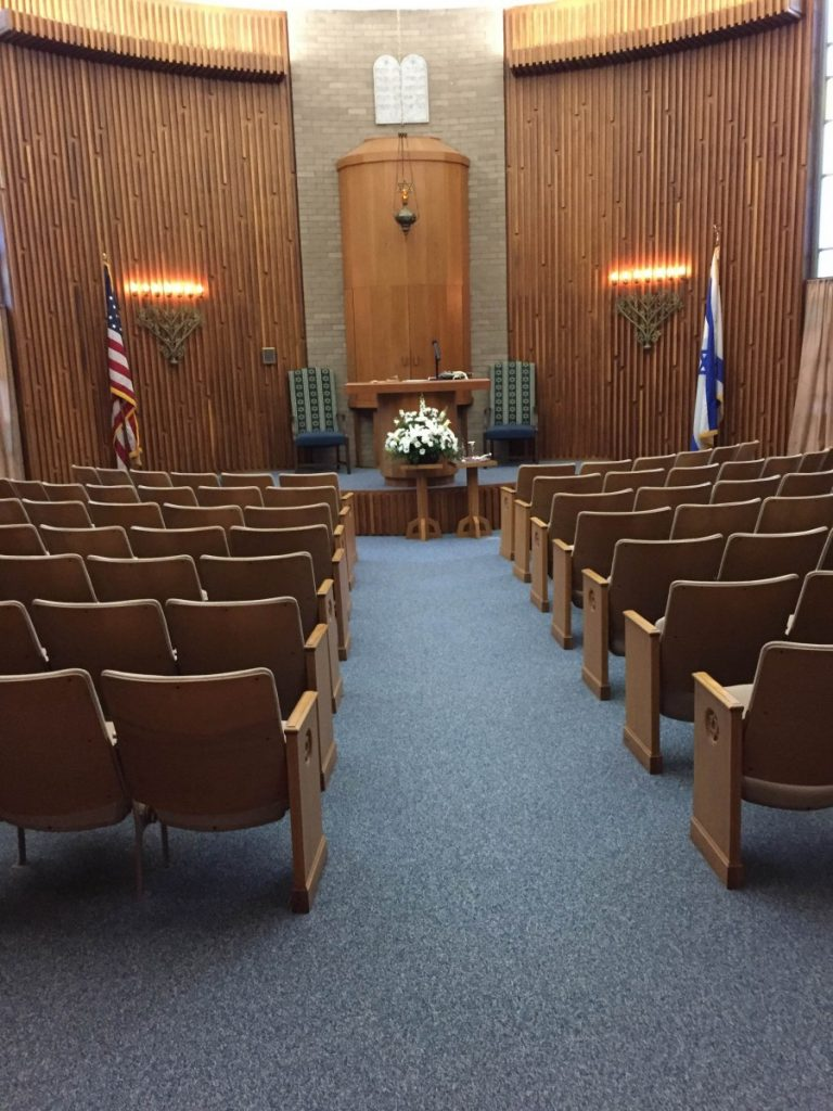 Interior of Temple Israel